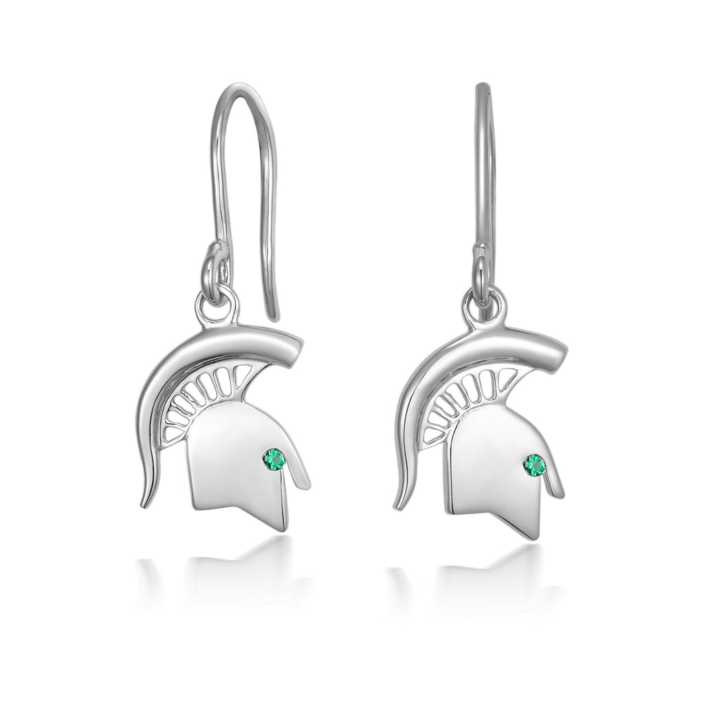 Sterling Silver - Spartan Head Earrings