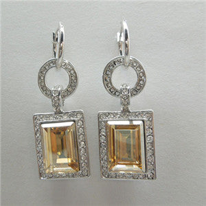 Swarovski Fashion Square Drop Earrings
