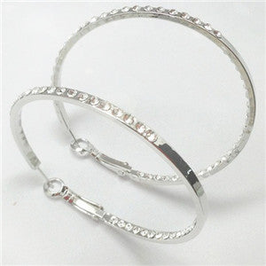 Swarovski Silver Fashion Hoop Earrings