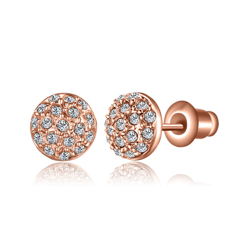 Swarovski Crystal Button Earrings