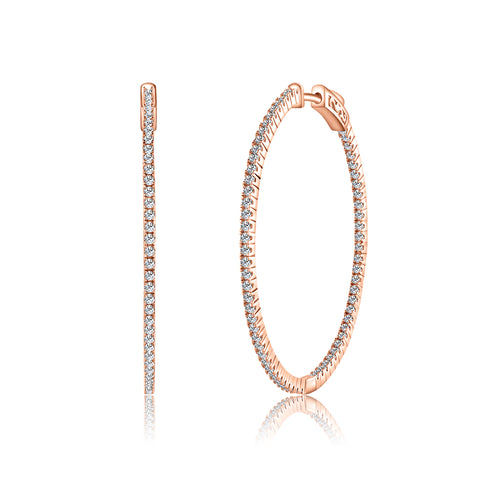 Sterling 925 37MM Hoop Earrings