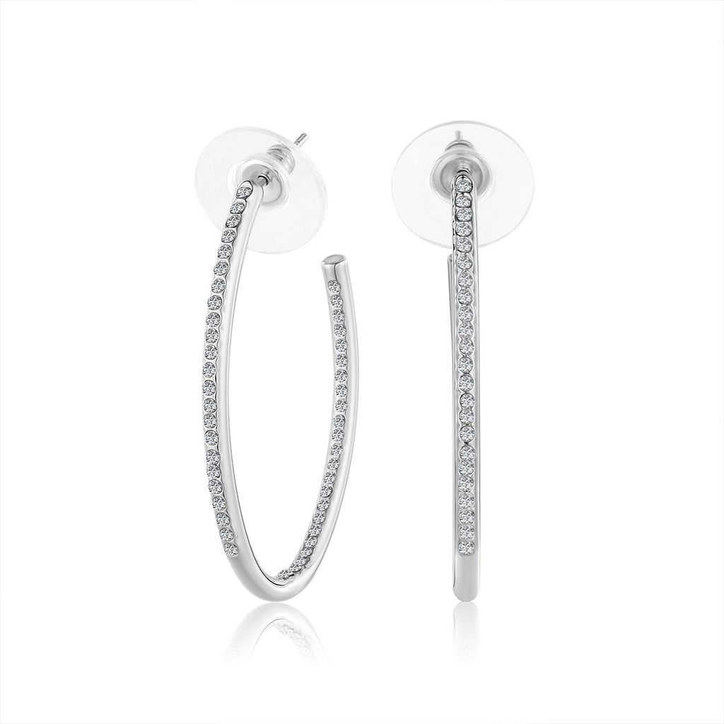 Swarovski Oval Hoop Earrings