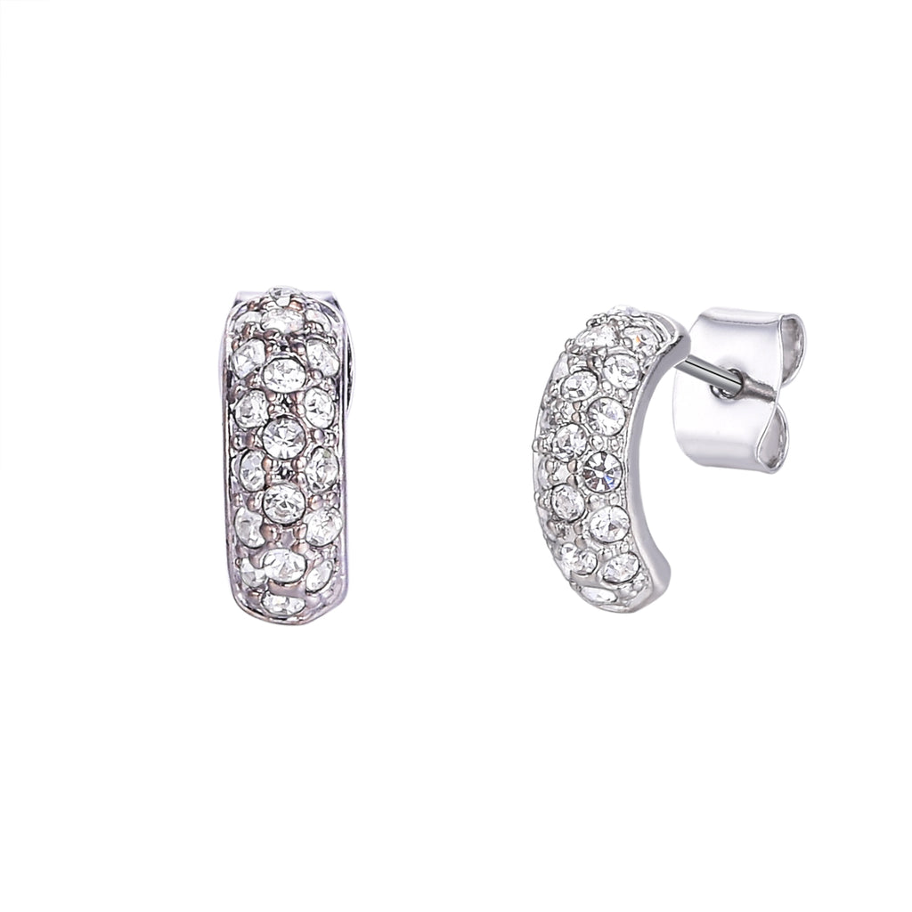 Huggie Pave Earrings