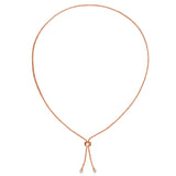 Lariat Style Pear Drops Necklace-L2101