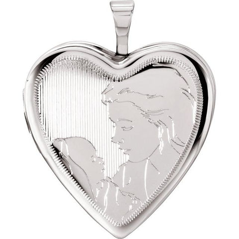 Mother & Child Heart Locket