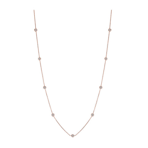 Sterling Silver Rose Rhodium Finish Necklace