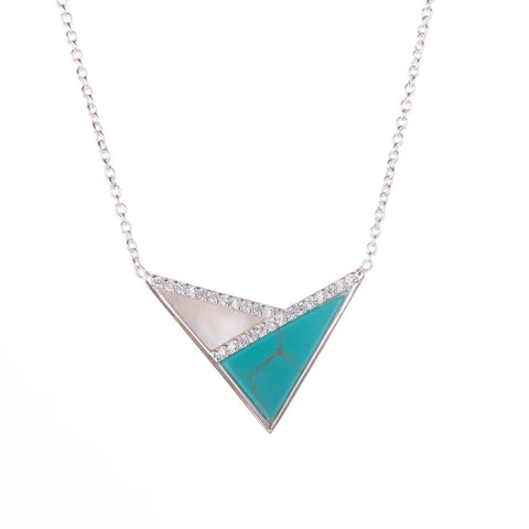 P601-TURQUOISE PENDANT IN STERLING SILVER