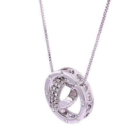 Brilliant Pave Heart Necklace