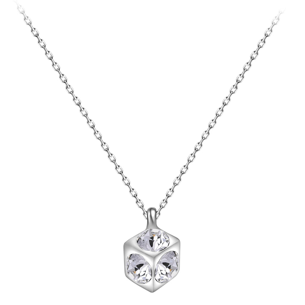 Dazzling Crystal Cube Necklace
