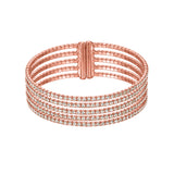 5-Row Wrap Crystal Cuff Bracelet