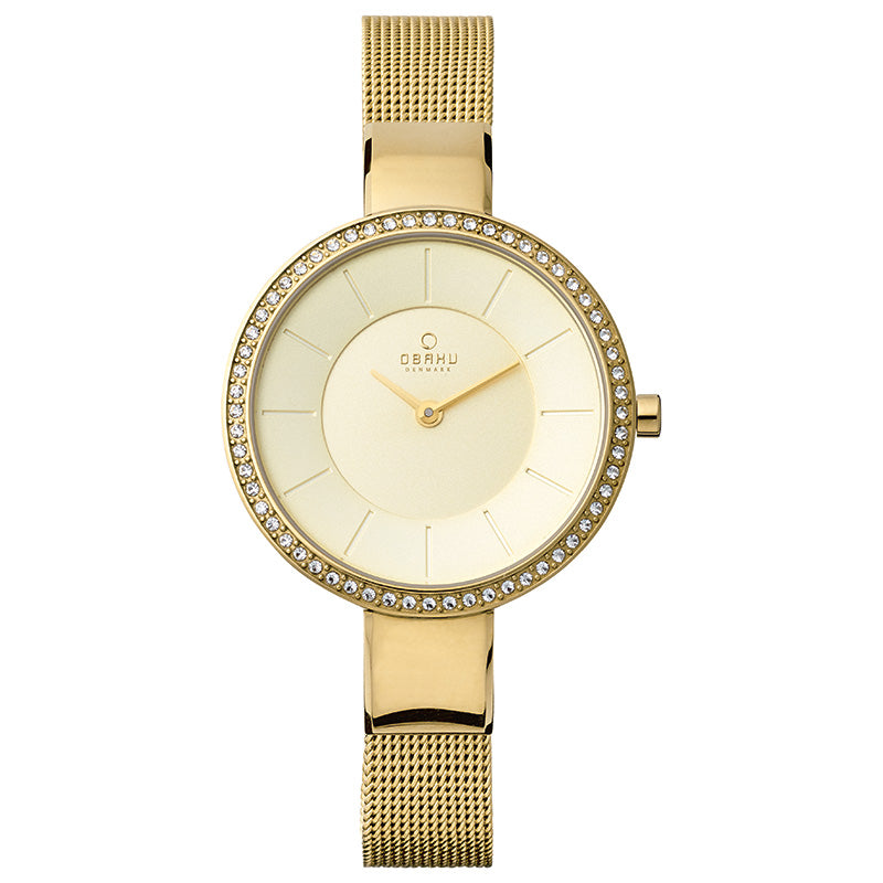 Sol Glimt - Gold Sol - Pebble Watch