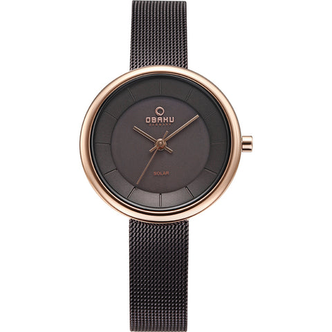OBAKU-Lys - Walnut (solar) Watch