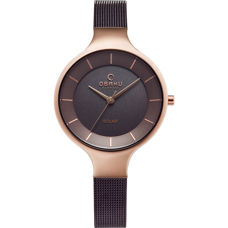 OBAKU-Gry - Walnut (solar) Watch