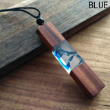 Vintage Resin Wood Pendant