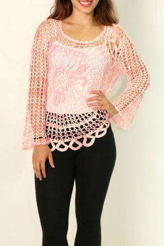 Open Crochet Ladies Top