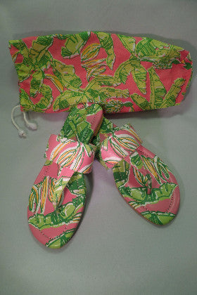 Pink and Green Lilly Pulitzer sandals