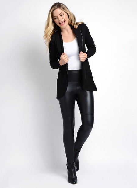 Lysse Black Vegan Leather Shaping Pants