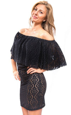 Black Resort Beach Dress Coverup