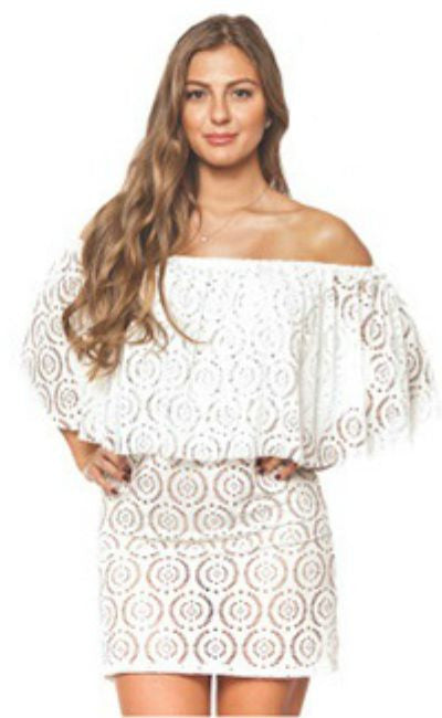 White Resort Beach Dress Coverup