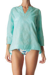 Aqua Resort Embroidered Tunic