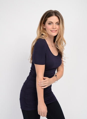 Lysse Eclipse Navy Ruched Top