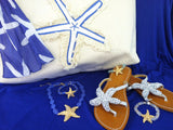 Island Beach Tote Blue Starfish