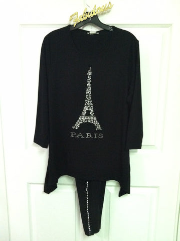 Eiffel tower embellished tunic