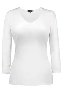 Judy P White 3/4 Sleeve Top