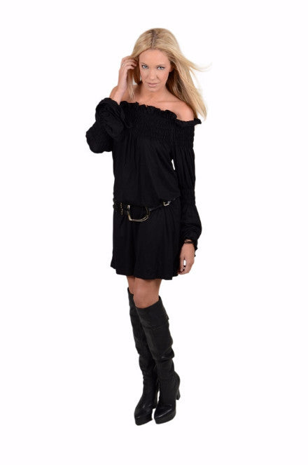 Union of Angels Black Cotton gauze dress