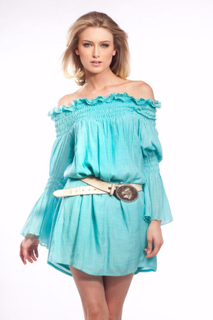 Union of Angels Turquoise Cotton gauze dress