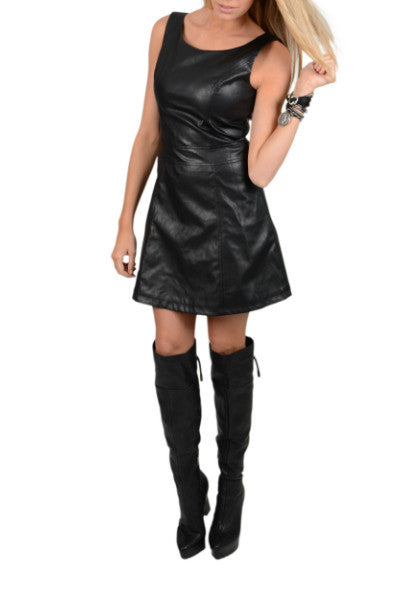 Union of Angels Lexi Faux Leather Dress