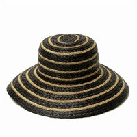 Beach Club Black Woven Sun Hat