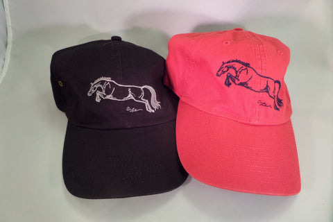 Horse embroidered baseball cap