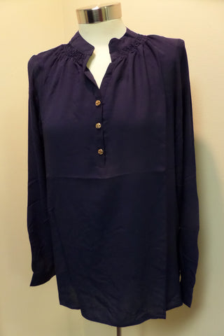 Navy long sleeve tunic top