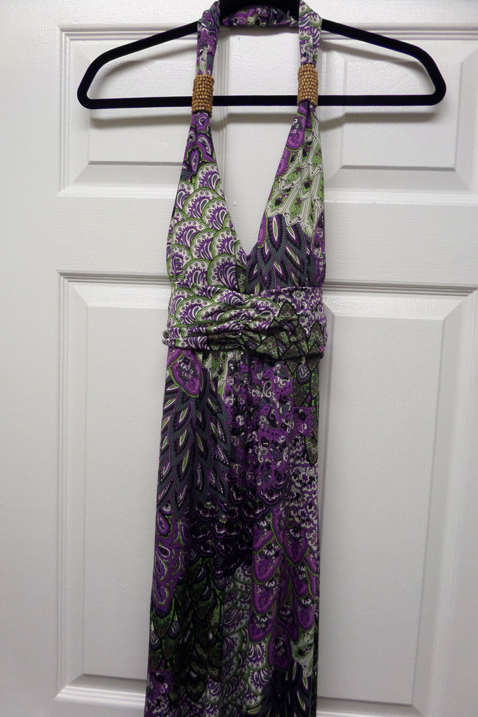 Purple Halter Maxi Dress