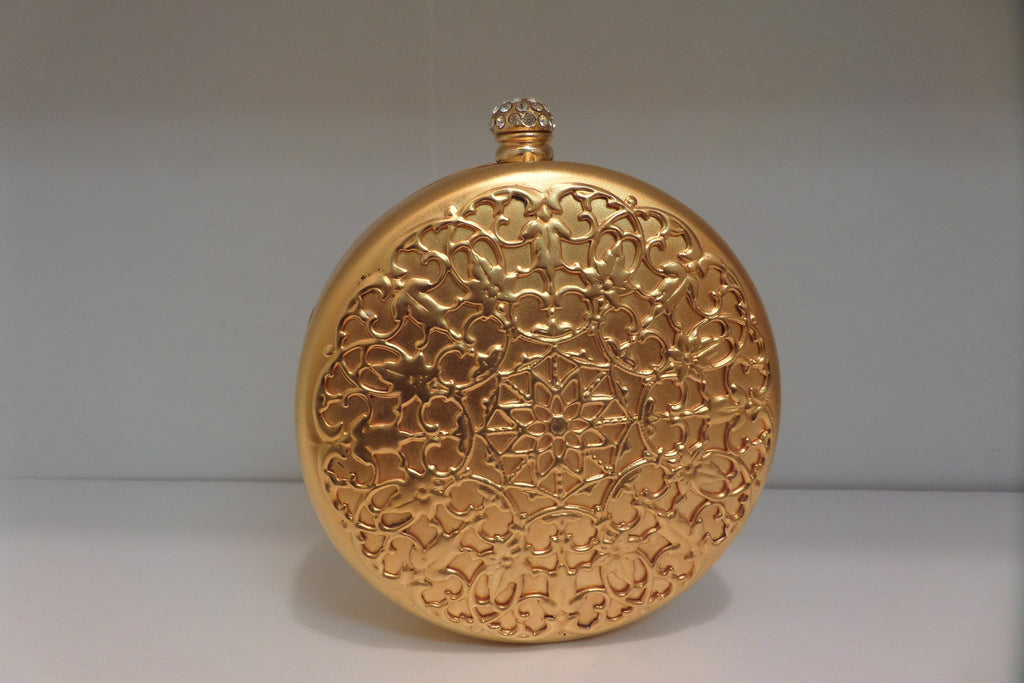 Gold Metal Round Clutch