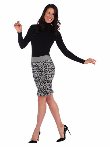 Cobblestone Pencil Skirt