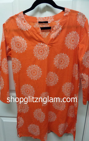 Coral Cotton Beach Coverup