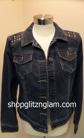 Cowgirl Denim Studded Jacket