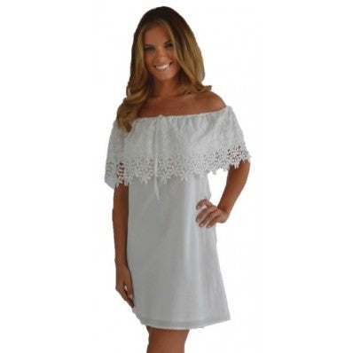 Daizee White Shift Dress