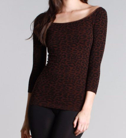 Dark Leopard Seamless Top