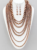 MULTI STRAND FAUX PEARL NECKLACE