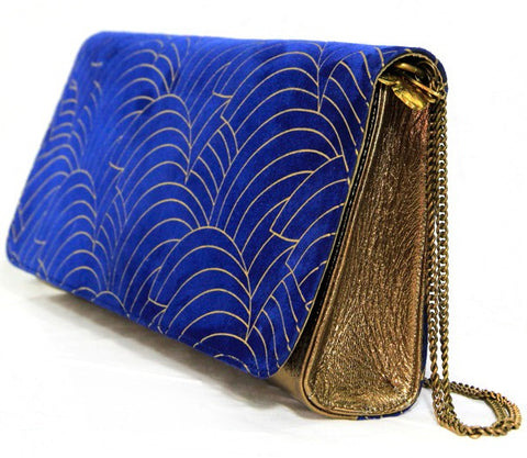 Florence Scallop Royal Gold Clutch