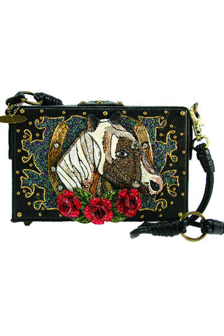 Full Gallop Derby Horse Handbag Clutch