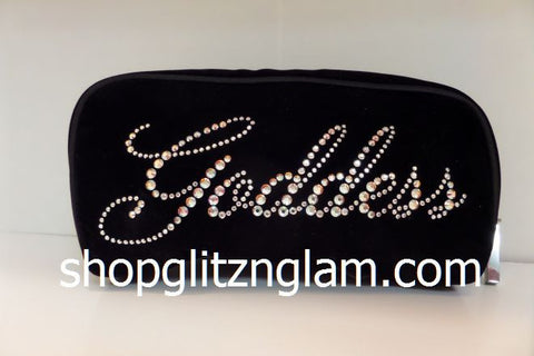 Goddess Black Velvet Makeup Bag