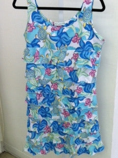 Green Turtle Tank Dress