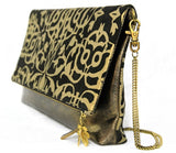 Gretta Palazzo Black Fold Over Clutch