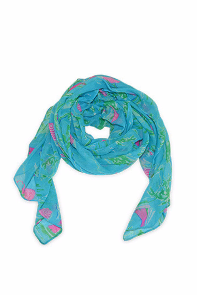 ALL FOR COLOR ISLAND TIME NAUTICAL SCARF