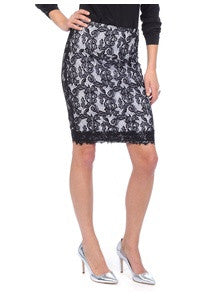 Lysse Perfect Pencil  Lace Skirt