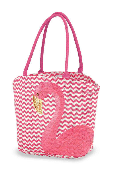 PINK FLAMINGO BEACH TOTE